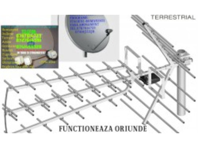 Antene satelit fara abonament
