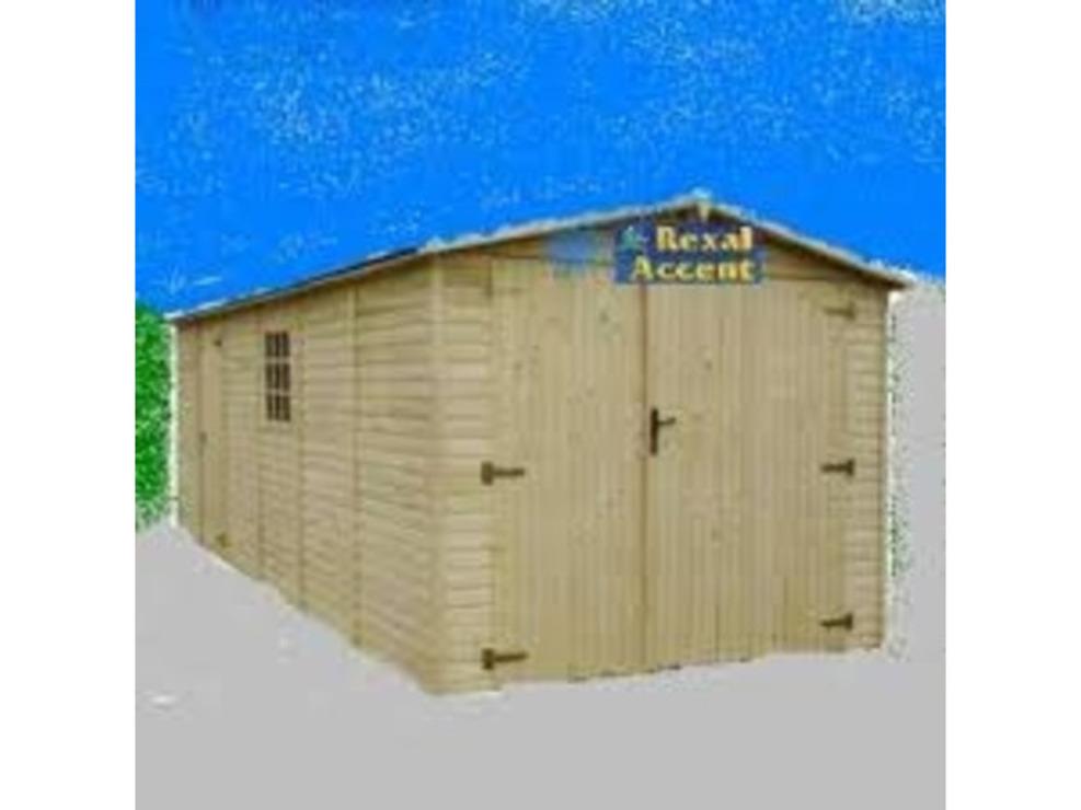 Garaje auto din lemn