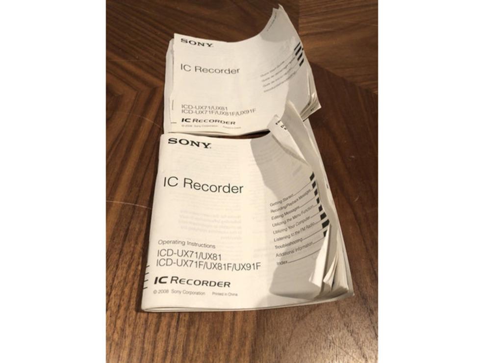 Super slim reportofon 2GB Sony ICDUX81 reincarcare