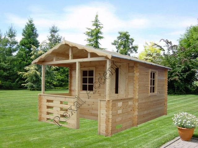 Casute de lemn cu terasa, Casuta BM