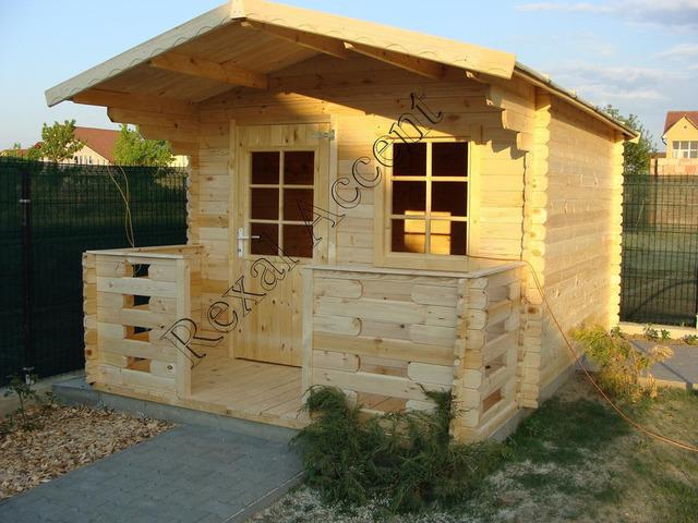 Casute de gradina din lemn cu terasa, Casuta CLARA
