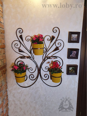 """Suport de perete pentru cinci flori """"Cale"""
