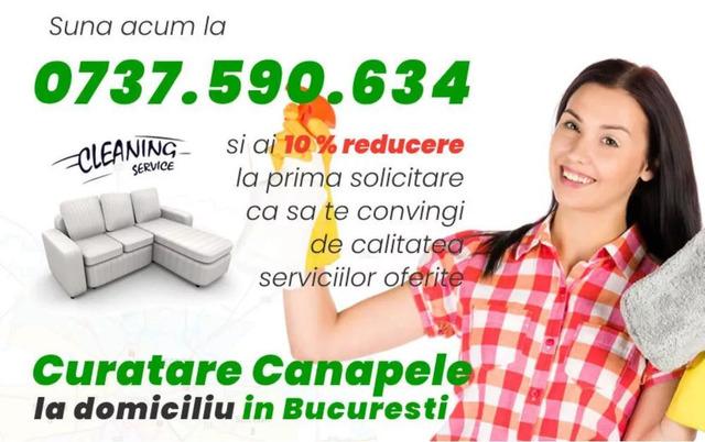 Curatare canapele Bucuresti. Curatare profesionala